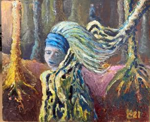 22-Liesbet Kroese - Het meisje met de boommantel
